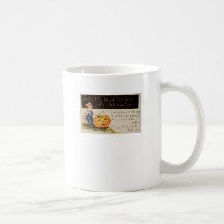 Pumpkin Carving (Vintage Halloween Card) Coffee Mug