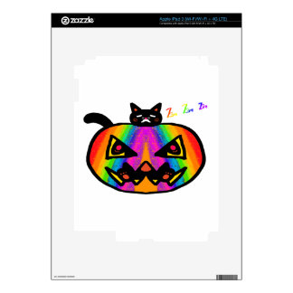 Pumpkin Cat Black Skins For iPad 3