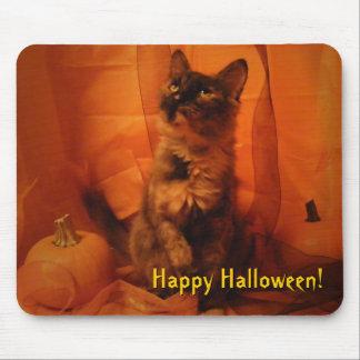 Pumpkin Cat Mousepad