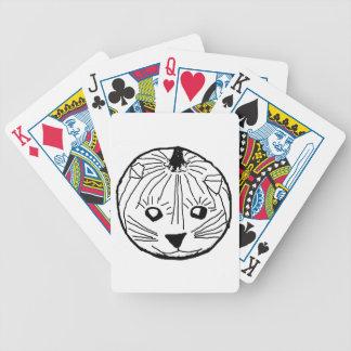 Pumpkin Cat Poker Cards