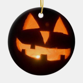 pumpkin ceramic ornament