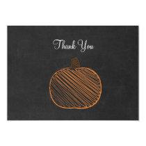 Pumpkin Chalkboard Thank You Cards