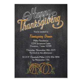 Pumpkin Chalkboard Thanksgiving Dinner Invitation