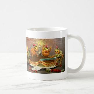 Pumpkin Characters Cutting Cake Coffee Mug