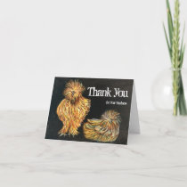Pumpkin Chickens Rustic Thank You Card