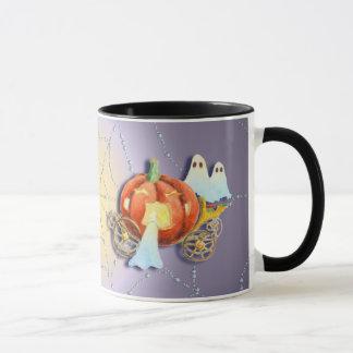 PUMPKIN COACH, JACK & GHOSTS by SHARON SHARPE Mug