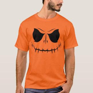 Pumpkin Color Horror Face T-Shirt