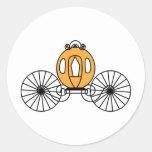 Pumpkin Colored Coach Classic Round Sticker