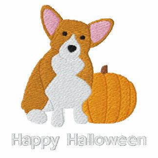 Pumpkin Corgi Embroidered Shirt (Long Sleeve)