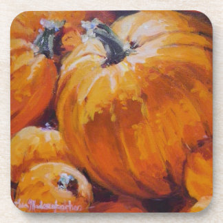 Pumpkin cork coaster
