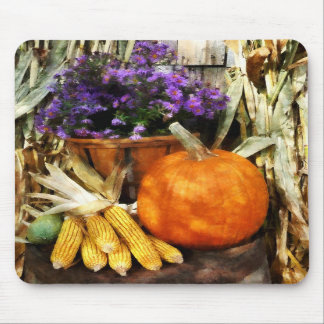 Pumpkin Corn and Asters Mousepads