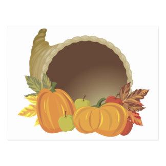 Pumpkin Cornucopia Postcard
