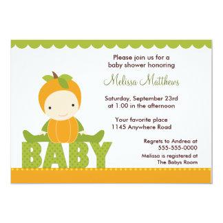 Pumpkin Costume Baby Shower Invitation