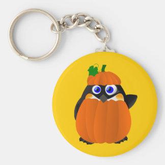 Pumpkin Costume Halloween Penguin Basic Round Button Keychain