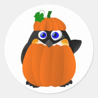 Pumpkin Costume Halloween Penguin Sticker