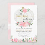 """Pumpkin couples baby shower, pink gold elegant invitation<br><div class=""""desc"""">For more advanced customization of this design,  simply select the """"Customize It"""" button above!</div>"""