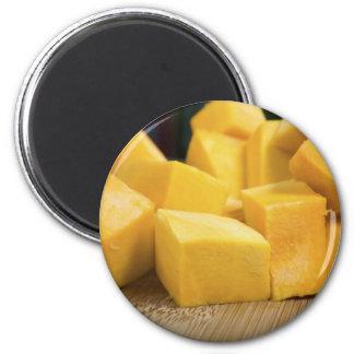 Pumpkin Cubed 2 Inch Round Magnet