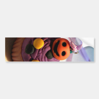 Pumpkin Cupcake Car Bumper Sticker