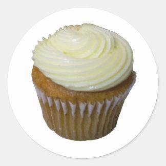 Pumpkin Cupcake Classic Round Sticker