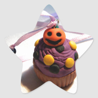 Pumpkin Cupcake Star Sticker