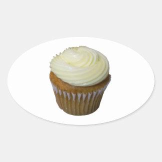 Pumpkin Cupcake Oval Sticker