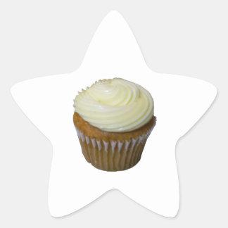 Pumpkin Cupcake Star Sticker