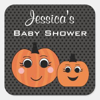 Pumpkin Custom Halloween Baby Shower Stickers