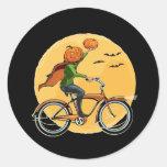 Pumpkin Delivery Classic Round Sticker