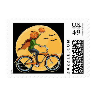 Pumpkin Delivery Postage Stamps