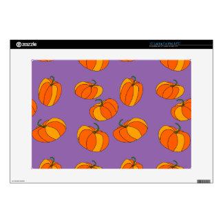 Pumpkin Design on 15 Inch Laptop Skin for MAC/PC