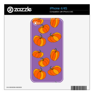 Pumpkin Design on iPhone 4/4S Skin Skin For iPhone 4S