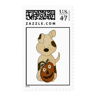 Pumpkin Dog Postage