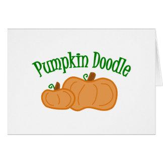 Pumpkin Doodle Card