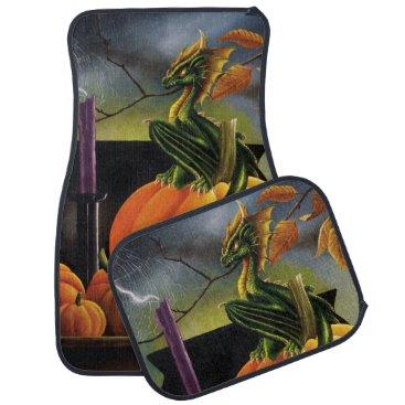 Halloween Themed Pumpkin Dragon Car Mat