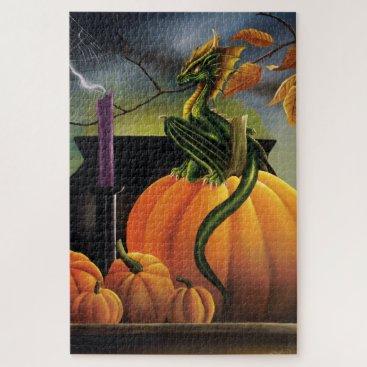 Halloween Themed Pumpkin Dragon Jigsaw Puzzle