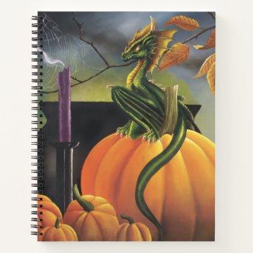 Halloween Themed Pumpkin Dragon Notebook