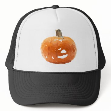 Halloween Themed pumpkin drawing trucker hat