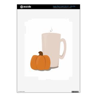 Pumpkin Drink Decals For iPad 3