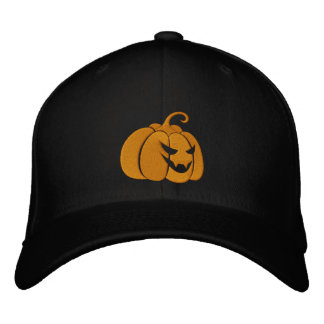 Pumpkin Embroidered Cap