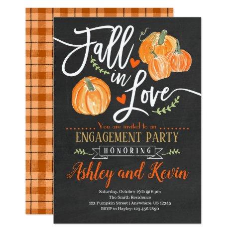 Pumpkin Engagement Party Invitation