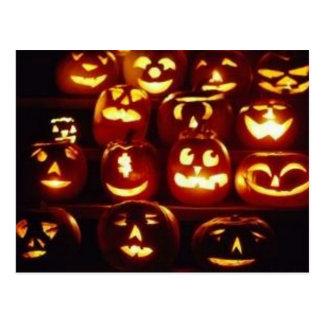 Pumpkin Expressions Halloween Postcard