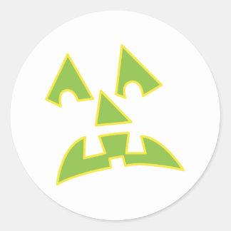pumpkin eyes jack-o-lantern face classic round sticker