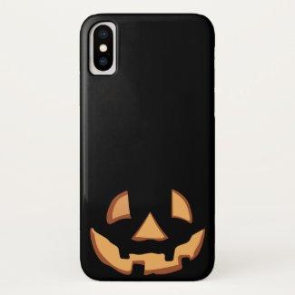 Pumpkin Face 1 iPhone X Case
