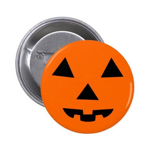 Pumpkin Face 2 Inch Round Button