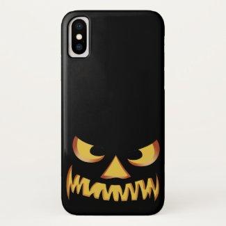 Pumpkin Face 2 iPhone X Case