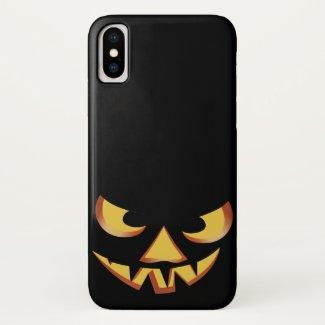 Pumpkin Face 3 iPhone X Case