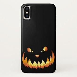 Pumpkin Face 4 iPhone X Case