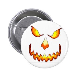 Pumpkin Face Pinback Button
