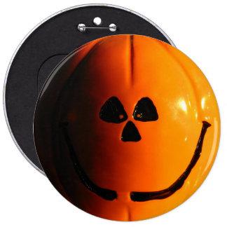 """Pumpkin Face Button 6"""""""