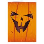 Pumpkin Face Cards